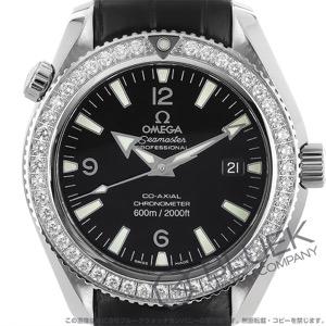 オメガ シーマスター プラネットオーシャン 600m防水 ダイヤ アリゲーターレザー 腕時計 メンズ OMEGA 222.18.42.20.01.001