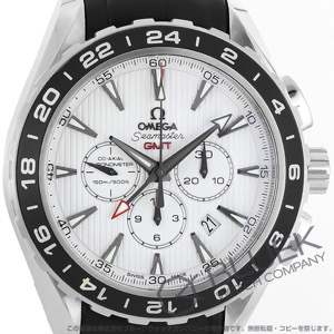 オメガ シーマスター アクアテラ クロノグラフ GMT アリゲーターレザー 腕時計 メンズ OMEGA 231.13.44.52.04.001
