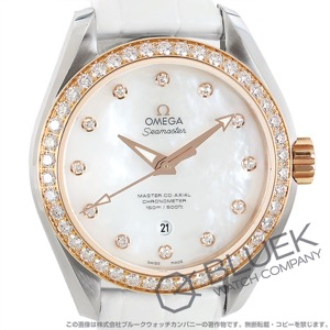 オメガ シーマスター アクアテラ ダイヤ アリゲーターレザー 腕時計 レディース OMEGA 231.28.34.20.55.003
