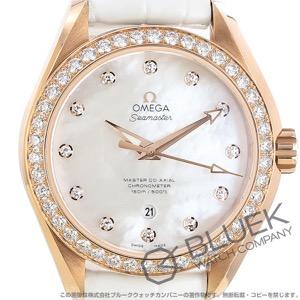 オメガ シーマスター アクアテラ ダイヤ アリゲーターレザー 腕時計 レディース OMEGA 231.58.34.20.55.003