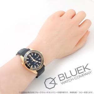 オメガ シーマスター プラネットオーシャン セラゴールド 600m防水 RG金無垢 アリゲーターレザー 腕時計 ユニセックス OMEGA 232.63.38.20.01.001