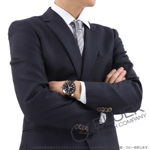 オメガ シーマスター プラネットオーシャン セラゴールド GMT 600m防水 RG金無垢 アリゲーターレザー 腕時計 メンズ OMEGA 232.63.44.22.01.001