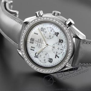 オメガ スピードマスター クロノグラフ ダイヤ 腕時計 レディース OMEGA 3815.7255