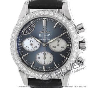 オメガ デビル クロノグラフ ダイヤ アリゲーターレザー 腕時計 レディース OMEGA 422.18.35.50.06.001