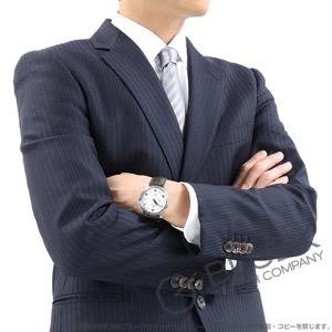 オメガ デビル プレステージ パワーリザーブ アリゲーターレザー 腕時計 メンズ OMEGA 424.13.40.21.02.004