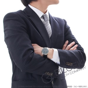 オメガ デビル プレステージ パワーリザーブ アリゲーターレザー 腕時計 メンズ OMEGA 424.13.40.21.03.002