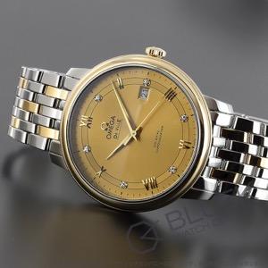 オメガ デビル プレステージ ダイヤ 腕時計 メンズ OMEGA 424.20.40.20.58.001