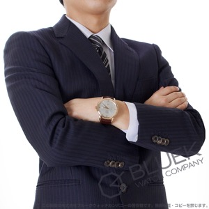 オメガ デビル プレステージ パワーリザーブ RG金無垢 アリゲーターレザー 腕時計 メンズ OMEGA 424.53.40.21.02.001