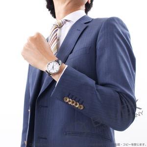 オメガ デビル プレステージ パワーリザーブ WG金無垢 アリゲーターレザー 腕時計 メンズ OMEGA 424.53.40.21.04.001