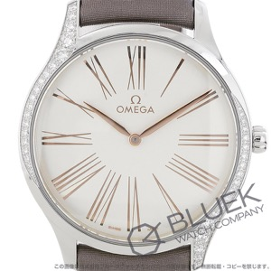 オメガ デビル トレゾア ダイヤ サテンレザー 腕時計 レディース OMEGA 428.17.39.60.02.001