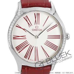 オメガ デビル トレゾア ダイヤ アリゲーターレザー 腕時計 レディース OMEGA 428.18.36.60.04.002