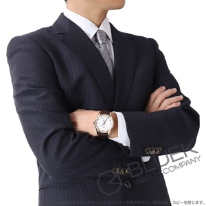 オメガ デビル RG金無垢 アリゲーターレザー 腕時計 メンズ OMEGA 431.53.41.21.02.001