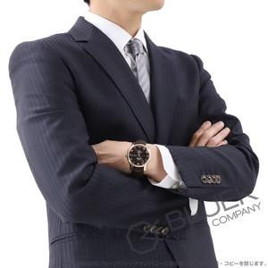 オメガ デビル アニュアルカレンダー RG金無垢 アリゲーターレザー 腕時計 メンズ OMEGA 431.53.41.22.13.001