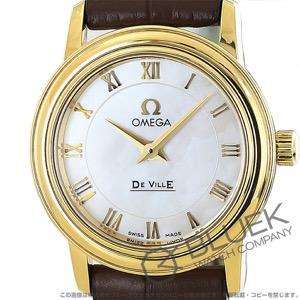 オメガ デビル プレステージ YG金無垢 アリゲーターレザー 腕時計 レディース OMEGA 4670.71.02