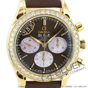 オメガ デビル クロノグラフ ダイヤ YG金無垢 腕時計 レディース OMEGA 4673.60.37