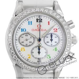 オメガ スペシャリティーズ オリンピックコレクション クロノグラフ ダイヤ アリゲーターレザー 腕時計 レディース OMEGA 4876.70.36