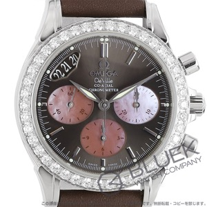 オメガ デビル クロノグラフ ダイヤ 腕時計 レディース OMEGA 4877.60.37