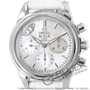 オメガ デビル コーアクシャル クロノグラフ アリゲーターレザー 腕時計 レディース OMEGA 4878.70.36