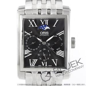 オリス レクタンギュラー コンプリケーション ムーンフェイズ GMT 腕時計 メンズ ORIS 581 7658 4074M