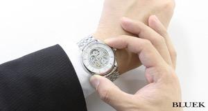 オリス アートリエ スケルトン 腕時計 メンズ ORIS 734 7670 4051M