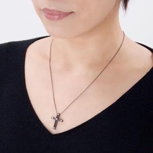 ダミアーニ ネックレス アクセサリー レディース Dサイド 十字架 クロス ガンメタル&クリア 20031606 20031606 DAMIANI
