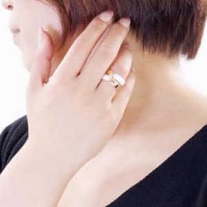ダミアーニ リング【指輪】 アクセサリー レディース アブラッチョ 11号 ピンクゴールド&ホワイト 20063449 DAMIANI