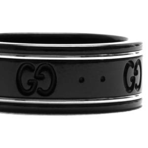 グッチ リング【指輪】 アクセサリー メンズ レディース GGアイコン ブラック&ホワイトゴールド 225985 I19A1 8061 GUCCI