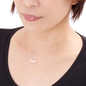 ジュエリー ネックレス アクセサリー レディース アコヤ花珠真珠 5ミリ 3粒 K18 パールホワイト&ホワイトゴールド DKPN7 WG JEWELRY