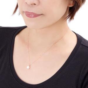 ジュエリー ネックレス アクセサリー レディース アコヤ花珠真珠 7.5ミリ 1粒 K18 パールホワイト&ピンクゴールド DKPY15 PG JEWELRY
