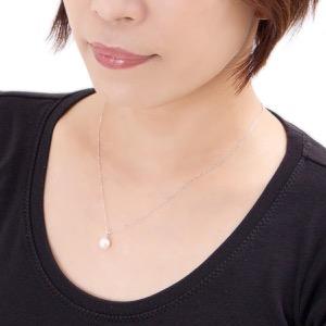 ジュエリー ネックレス アクセサリー レディース アコヤ花珠真珠 7.5ミリ 1粒 K18 パールホワイト&ホワイトゴールド DKPY15 WG JEWELRY