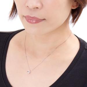 ジュエリー ネックレス アクセサリー レディース ダイアモンド 0.3カラット 1粒 ダンシングストーン プラチナ クリア&シルバー DLFV0006 PT JEWELRY