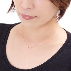 ジュエリー ネックレス アクセサリー レディース ダイアモンド 0.3カラット 5粒 K18 クリア&ピンクゴールド DTP05623 PG JEWELRY