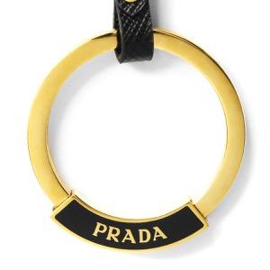 プラダ キーリング/キーホルダー アクセサリー メンズ レディース サフィアーノ ブラック 1PP103 053 F0002 PRADA
