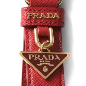 プラダ キーリング/キーホルダー アクセサリー レディース サフィアーノ 三角ロゴプレート フォーコレッド 1PP142 053 F068Z 2021年春夏新作 PRADA