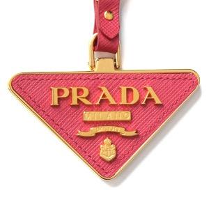 プラダ キーリング/キーホルダー アクセサリー メンズ レディース サフィアーノ トイズ 三角ロゴプレート ペオニアピンク 1TL380 2EWR F0505 PRADA