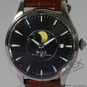 ボールウォッチ トレインマスター ムーンフェイズ クロコレザー 腕時計 メンズ BALL WATCH NM3082D-LLJ-BK