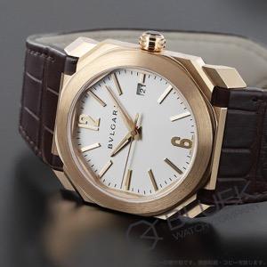 ブルガリ オクト ソロテンポ PG金無垢 アリゲーターレザー 腕時計 メンズ BVLGARI BGOP38WGLD