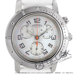 エルメス クリッパー ダイバー クロノグラフ ダイヤ 腕時計 レディース HERMES CP2.430.212/1C5