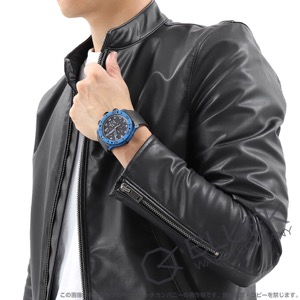 エドックス クロノオフショア1 カーボン クロノグラフ 500m防水 腕時計 メンズ EDOX 01125-CLNBUN-NINBU