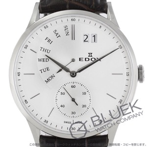 エドックス レ・ボベール レトログラード 腕時計 メンズ EDOX 34500-3-AIN