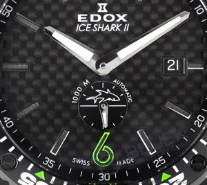 エドックス クロノオフショア1 アイスシャークII 世界限定100本 1000m防水 腕時計 メンズ EDOX 96001-37NV-NIV