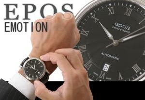 エポス エモーション 腕時計 メンズ EPOS 3390RBK
