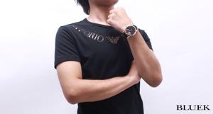 エポス ラウンド オープンハート 腕時計 メンズ EPOS 3424OHRGPBK