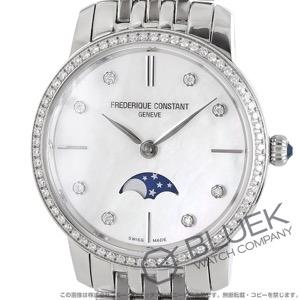 フレデリックコンスタント スリムライン ムーンフェイズ ダイヤ 腕時計 レディース FREDERIQUE CONSTANT 206MPWD1SD6B