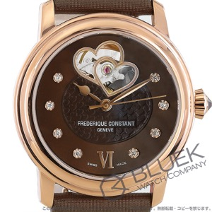 フレデリックコンスタント ダブル ハートビート ダイヤ サテンレザー 腕時計 レディース FREDERIQUE CONSTANT 310CDHB2P4