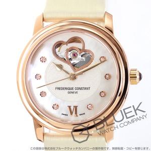 フレデリックコンスタント ダブル ハートビート ダイヤ サテンレザー 腕時計 レディース FREDERIQUE CONSTANT 310DHB2P4