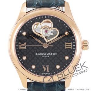 フレデリックコンスタント ダブル ハートビート ダイヤ アリゲーターレザー 腕時計 レディース FREDERIQUE CONSTANT 310NDHB3B4