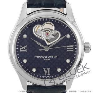 フレデリックコンスタント ダブル ハートビート ダイヤ アリゲーターレザー 腕時計 レディース FREDERIQUE CONSTANT 310NDHB3B6