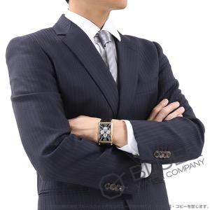 フランクミュラー ロングアイランド パーペチュアルカレンダー ムーンフェイズ PG金無垢 クロコレザー 腕時計 メンズ FRANCK MULLER 1200 QP
