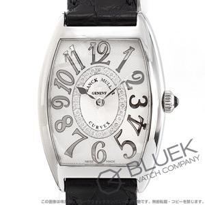 フランクミュラー トノーカーベックス レリーフ ダイヤ クロコレザー 腕時計 レディース FRANCK MULLER 1752 M QZ REL CD 1R[FM1752QZ1RDSSSLLZBKR]
